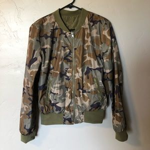 Jackets & Blazers - Reversible camo bomber jacket